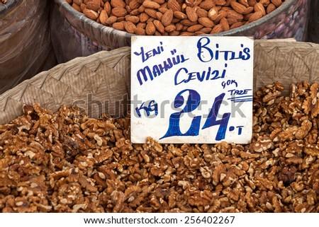 Walnut sale - stock photo