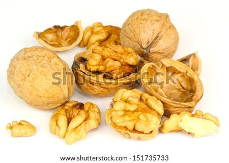 Walnuts, tree nuts - stock photo