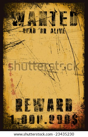 Wanted background illustration for posters & congratulation cards - stock photo