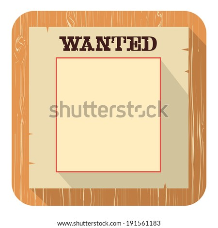 Wanted poster for face.Raster - stock photo
