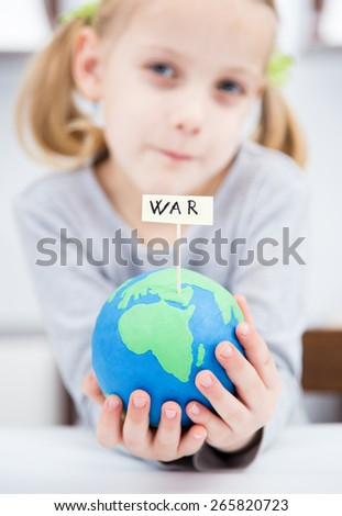 war concept, with clay earth - stock photo