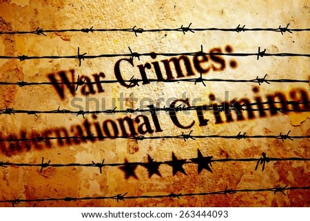 War crime - stock photo
