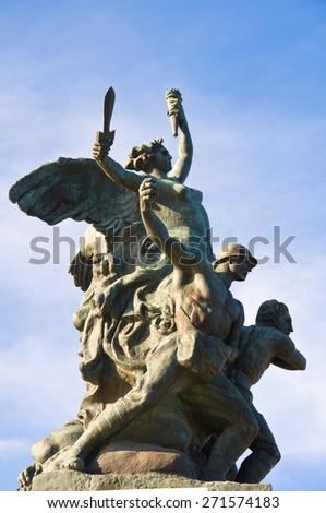 War memorial. Rutigliano. Puglia. Italy. - stock photo