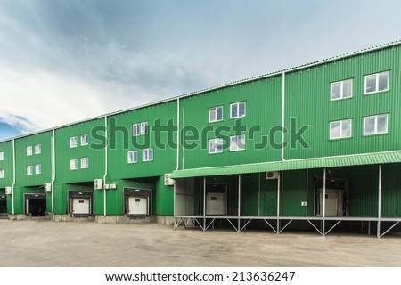 Warehouse docks  - stock photo