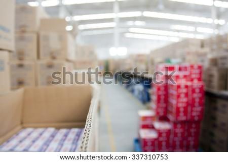 warehouse interior - stock photo