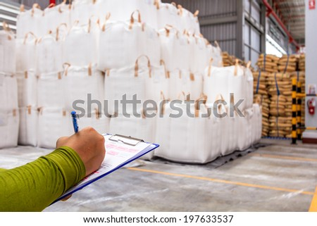 Warehouse is commercial building for storage of goods - stock photo