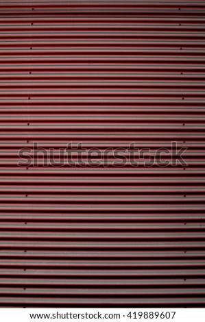 Warehouse Metallic Facade - stock photo