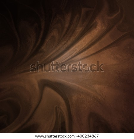 warm coffee brown color with peachy orange hues in rippled abstract background pattern, creases or folds in brown material with streaks and soft lighting, wrinkled marbled texture design - stock photo
