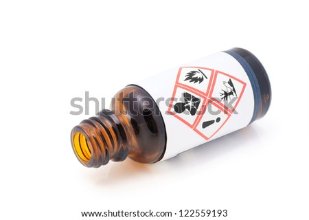 Warning for dangerous liquids. - stock photo