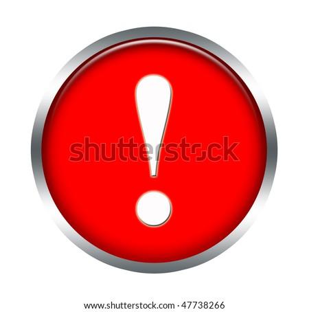 warning icon - stock photo