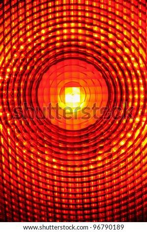 Warning light  Close-up of a burning warning light - stock photo