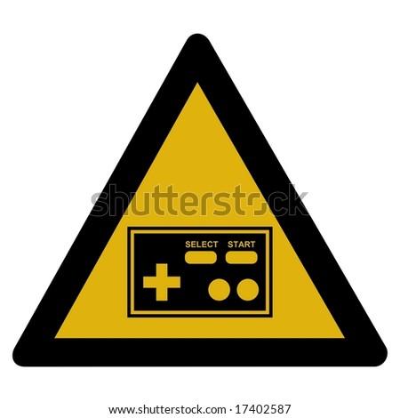 Warning sign - arcade - stock photo