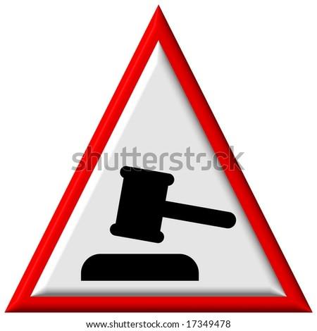 Warning sign - auction - stock photo