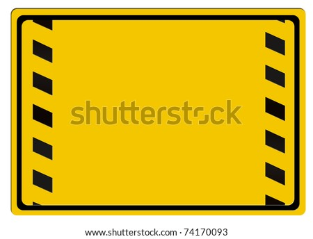 Warning sign isolated on white background - stock photo