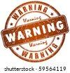 Warning stamp - stock photo