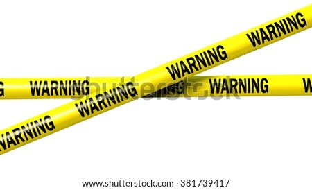 warning tape - isolated - stock photo