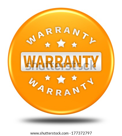 warranty button isolated  - stock photo