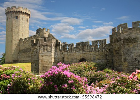 Warwick Castle, England - stock photo