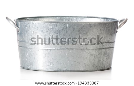 wash basin isolated on white background - stock photo