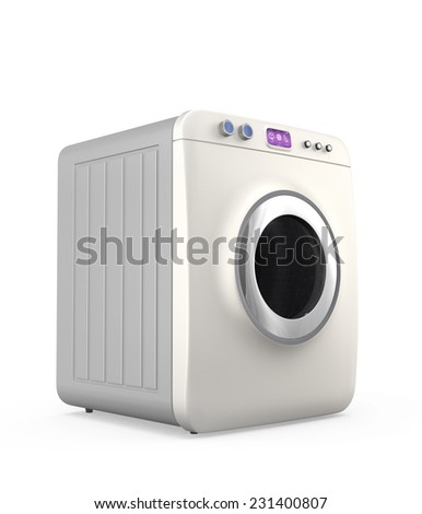 Wash machine with touch screen. Concept for IoT  (Internet of things) - stock photo
