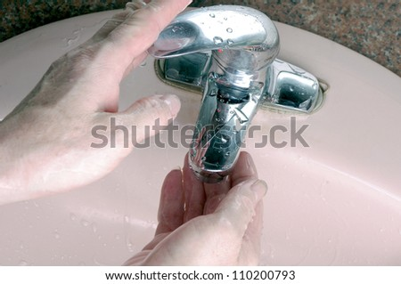 Wash your hands - stock photo