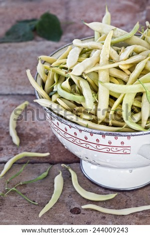 Washed green beans - stock photo