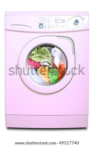 Washer. Isolated on white background - stock photo