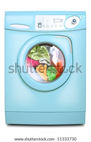 Washer. Isolated on white background. - stock photo