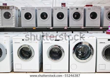 washers in shop - stock photo