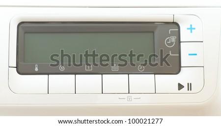 Washing machine control panel - stock photo