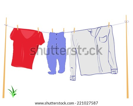 washing of a family - stock photo