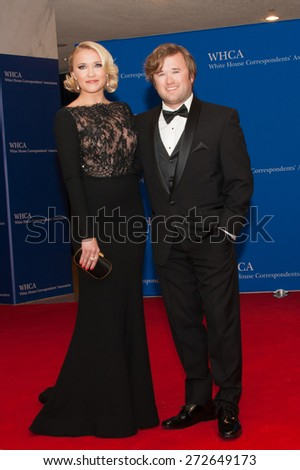 WASHINGTON APRIL 25 â?? Emily Osment and Haley Jo Osment arrive at the White House Correspondentsâ?? Association Dinner April 25, 2015 in Washington, DC  - stock photo