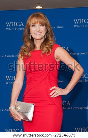WASHINGTON APRIL 25 â?? Jane Seymour arrives at the White House Correspondentsâ?? Association Dinner April 25, 2015 in Washington, DC - stock photo