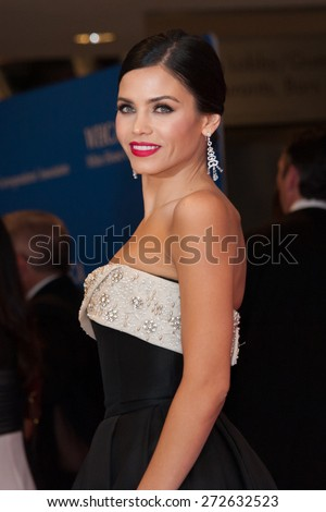 WASHINGTON APRIL 25 â?? Jenna Dewan Tatum arrives at the White House Correspondentsâ?? Association Dinner April 25, 2015 in Washington, DC - stock photo