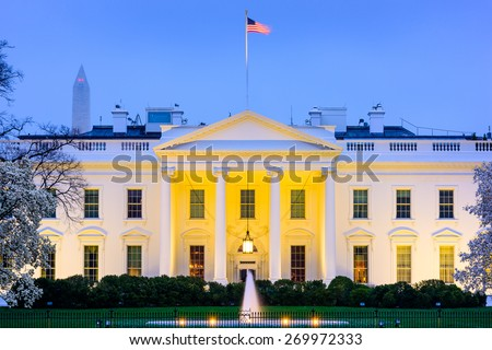 Washington, D.C. at the White House. - stock photo