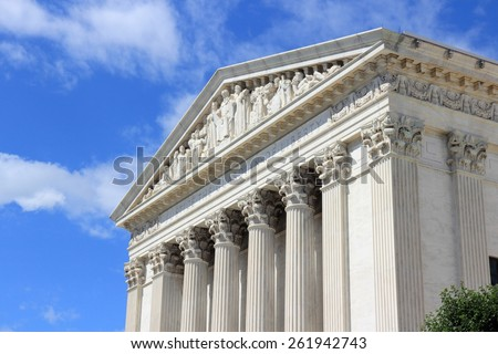 Washington DC, capital city of the United States. US Supreme Court building. - stock photo