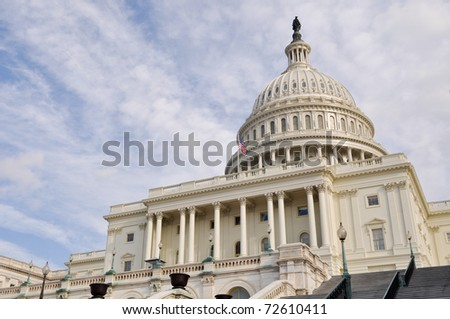 Washington DC Capitol Hill Facade - stock photo
