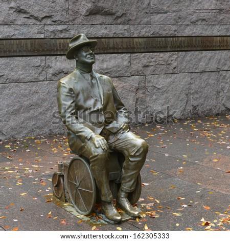 Washington DC, Franklin Delano Roosevelt Memorial - stock photo