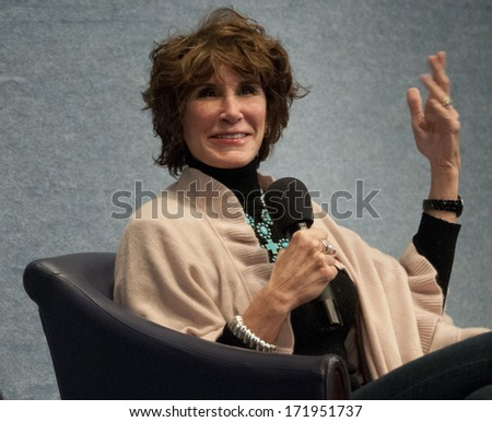 WASHINGTON, DC - JANUARY 11, 2014: Republican political consultant Mary Matalin speaks in a book talk at the National Press Club - stock photo
