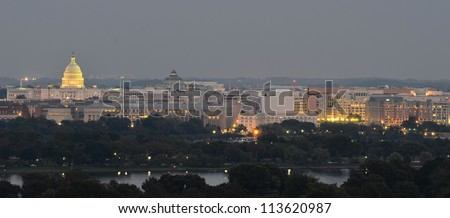 Washington DC skyline - stock photo