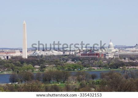 Washington DC skyline - stock photo