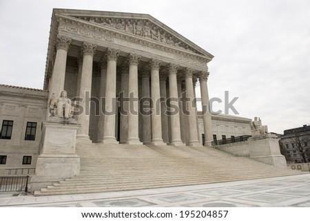 Washington DC US Supreme Court - stock photo