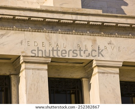 WASHINGTON, DC, USA - MARCH 5, 2009: United States Federal Reserve Bank building on Constitution Avenue - stock photo