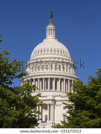 WASHINGTON, DC, USA - MAY 2, 2013: United States Capitol building. - stock photo