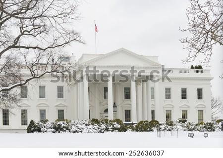 Washington DC - White House in Winter  - stock photo