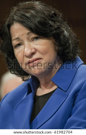 WASHINGTON - JULY 13 : US Supreme Court Nomimee hearing Sonia Sotomayor July 13, 2009 in Washington, DC - stock photo