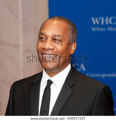 WASHINGTON MAY 3 - Actor Joe Morton arrives at the White House Correspondents� Association Dinner May 3, 2014 in Washington, DC - stock photo