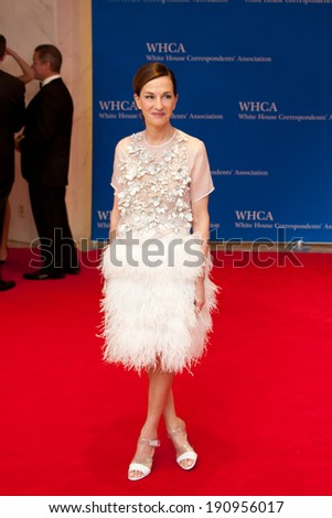 WASHINGTON MAY 3 - Cynthia Rowley arrives at the White House Correspondents� Association Dinner May 3, 2014 in Washington, DC - stock photo