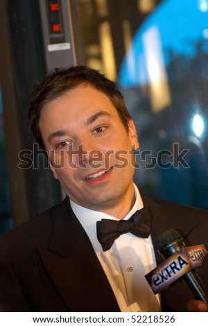 WASHINGTON MAY 1 - Jimmy Fallon is interviewed at the White House Correspondents Association Dinner May 1, 2010 in Washington, D.C. - stock photo