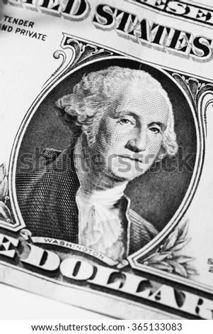 Washington on dollar - stock photo